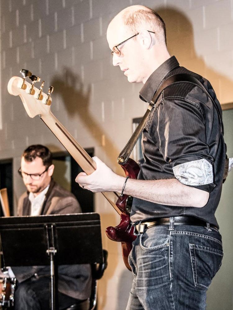 David Koop Green Aero Guitar Hero
