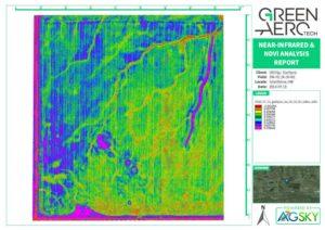 Sample Crop Health UAV / Drone NDVI Map