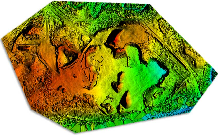 RTK UAV / Drone Land Elevation Mapping