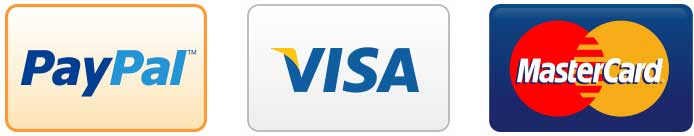 Payments Accepted PayPal Visa MasterCard