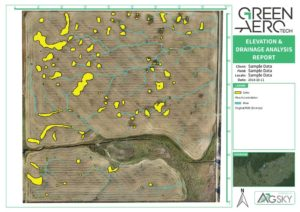 UAV / Drone Drainage Analysis Sinks Streams Flow