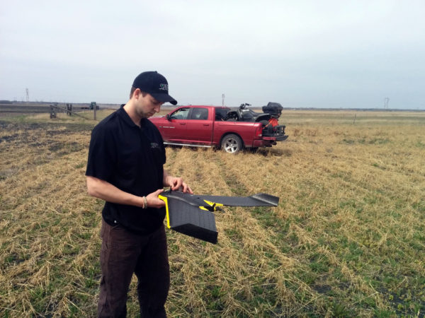 UAV / Drone Operator working in the field